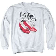 The Wizard Of Oz  Sweatshirt Red Ruby Slippers Adult White Sweat Shirt