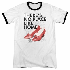 The Wizard Of Oz  There's No Place Like Home White Ringer Shirt