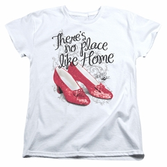 The Wizard Of Oz  Womens Shirt Red Ruby Slippers White T-Shirt