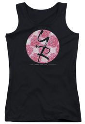 The Young And The Restless Juniors Tank Top Young Roses Logo Black Tanktop