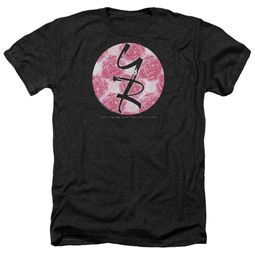 The Young And The Restless Shirt Young Roses Logo Heather Black T-Shirt