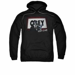 They Live Hoodie Sweatshirt Obey Black Adult Hoody Sweat Shirt