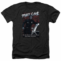 They Live Shirt Dead Wrong Heather Black T-Shirt