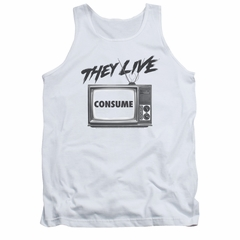 They Live Tank Top Consume White Tanktop