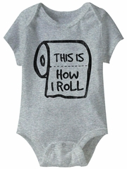 This Is How I Roll Funny Baby Romper Athletic Heather Infant Babies Creeper