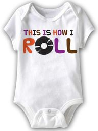 This Is How I Roll Funny Baby Romper White Infant Babies Creeper
