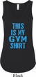 This Is My Gym Shirt Ladies Flowy V-neck Tank Top