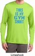 This Is My Gym Shirt Mens Dry Wicking Long Sleeve Shirt