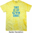 This Is My Gym Shirt Spider Tie Dye Shirt