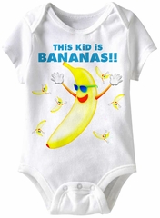 This Kid Is Bananas! Funny Baby Romper White Infant Babies Creeper