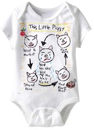 This Little Piggy Funny Baby Romper White Infant Babies Creeper