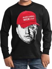 Three Stooges Curly Make America NYUK Again Kids Long Sleeve
