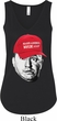 Three Stooges Curly Make America NYUK Again Ladies Flowy V-neck Tank