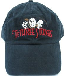 Three Stooges Hat - Funny Faces Fine Embroidered Black Cap