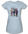 Three Stooges Junior Shirt Sexy Light Blue Tee T-Shirt
