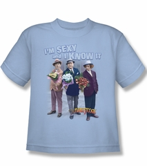 Three Stooges Kids Shirt Sexy Light Blue Tee T-Shirt