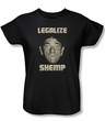 Three Stooges Ladies Shirt Legalize Shemp Black Tee T-Shirt