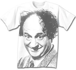 Three Stooges Larry Fine T-shirt - White