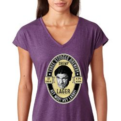 Three Stooges Shemp Lager Ladies Shirts