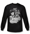 Three Stooges Shirt Give A Nyuk Black Long Sleeve Tee T-Shirt