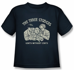 Three Stooges Shirt Kids Without Cents Navy Youth Tee T-Shirt