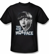 Three Stooges Shirt Moe Face Adult Black Tee T-Shirt