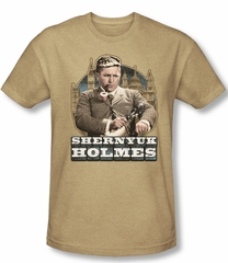 Three Stooges Shirt Shemyuk Holmes Adult Heather Sand Tee T-Shirt