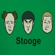 Three Stooges Shirt Stooges Adult Heather Kelly Green Tee T-Shirt