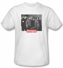 Three Stooges Shirt Supreme Rip Adult White Tee T-Shirt