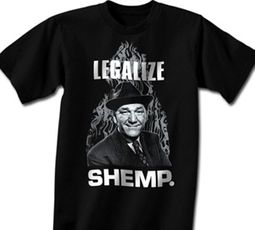 Three Stooges T-shirt Funny Legalize Shemp Adult Black Tee Shirt