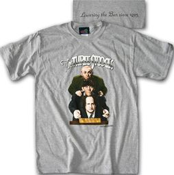 Three Stooges T-shirt Lowering the Bar Adult Funny Gray Tee Shirt
