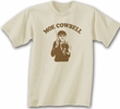 Three Stooges T-shirt Moe Cowbell Adult Funny Natural Tee Shirt