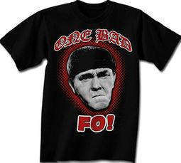 Three Stooges T-shirt Moe One Bad Mo Fo Adult Funny Black Tee Shirt