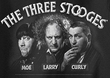 Three Stooges T-shirt Opening Credits Adult Black Tee Shirt