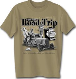 Three Stooges T-shirt Stooges Road Trip Adult Funny Tee Shirt
