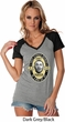 Three Stooges Tee Curly Porter Ladies Contrast V-neck