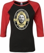 Three Stooges Tee Curly Porter Ladies Raglan