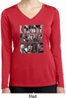Three Stooges Tee Larry Curly Moe Ladies Dry Wicking Long Sleeve