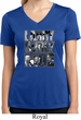 Three Stooges Tee Larry Curly Moe Ladies Dry Wicking V-neck