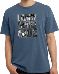 Three Stooges Tee Larry Curly Moe Pigment Dyed T-shirt