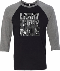 Three Stooges Tee Larry Curly Moe Raglan Shirt