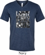 Three Stooges Tee Larry Curly Moe Tri Blend V-neck