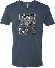 Three Stooges Tee Larry Curly Moe V-neck