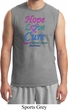 Thyroid Cancer Awareness Hope Love Cure Muscle Shirt