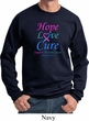 Thyroid Cancer Awareness Hope Love Cure Sweatshirt