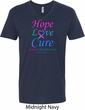 Thyroid Cancer Awareness Tee Hope Love Cure V-neck