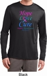Thyroid Cancer Hope Love Cure Dry Wicking Long Sleeve