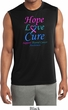 Thyroid Cancer Hope Love Cure Dry Wicking Sleeveless Shirt