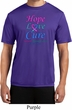 Thyroid Cancer Hope Love Cure Dry Wicking T-shirt