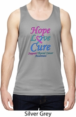 Thyroid Cancer Hope Love Cure Dry Wicking Tank Top